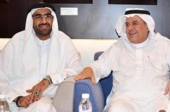 رئيس الاهلي أحمد الصائغ والأمير منصور بن مشعل