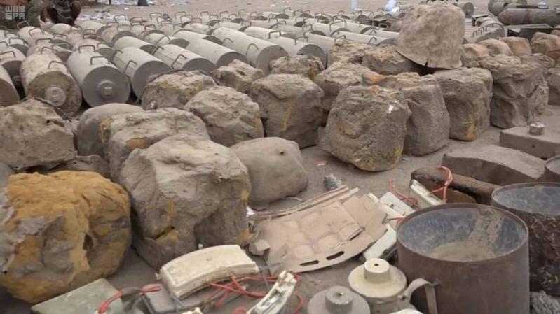 مسام ينتزع 2209 ألغام حوثية خلال أسبوع