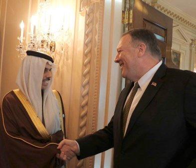 بومبيو: نعمل مع المملكة لمواجهة إيران