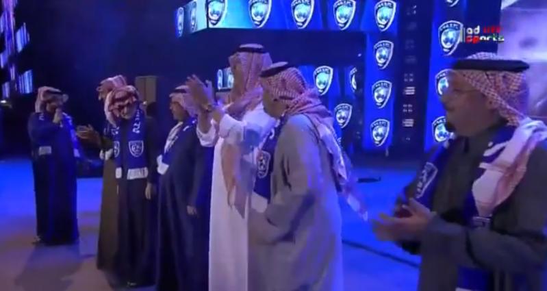 تركي آل الشيخ يُكرّم رؤساء #الهلال السابقين