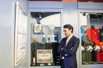 عبدالعزيز الفيصل والمسحل يتجولان بالاتحاد الإسباني - المواطن