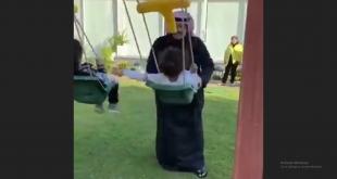 فيديو.. عبدالعزيز بن فهد يؤرجح بناته