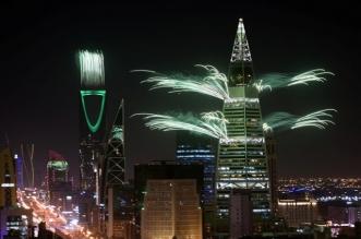 الألعاب النارية تنطلق من برج الفيصلية - المواطن