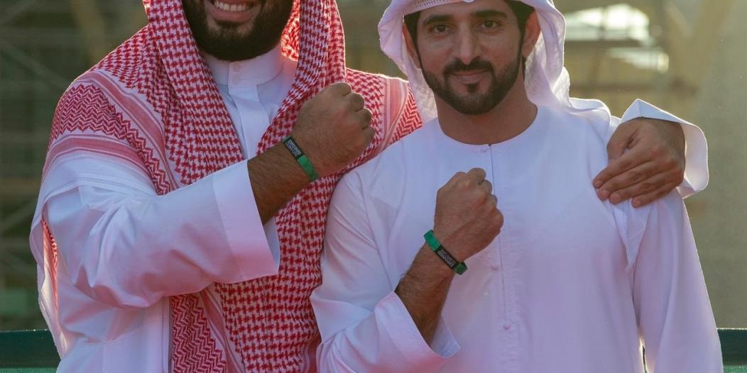 محمد بن سلمان وولي عهد #دبي يدعمان إكسبو 2020