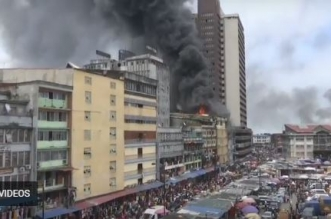 فيديو.. حريق هائل يلتهم سوقًا في لاوس النيجيرية - المواطن