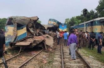 مصرع 15 شخصاً باصطدام قطارين في بنغلادش - المواطن