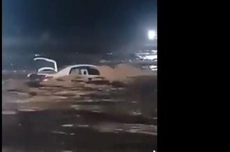 نجاة مواطن من سيول شعيب جو! - المواطن