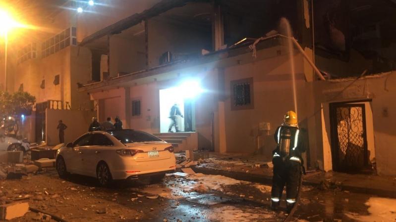 انفجار مروع .. وفاة شخص بمكة بسبب تسرب الغاز