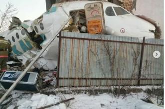 فيديو.. مقتل 15 في تحطم طائرة كازاخستانية - المواطن
