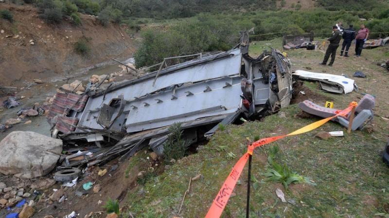 فيديو وصور.. ارتفاع قتلى حادثة الحافلة بتونس إلى 26 - المواطن