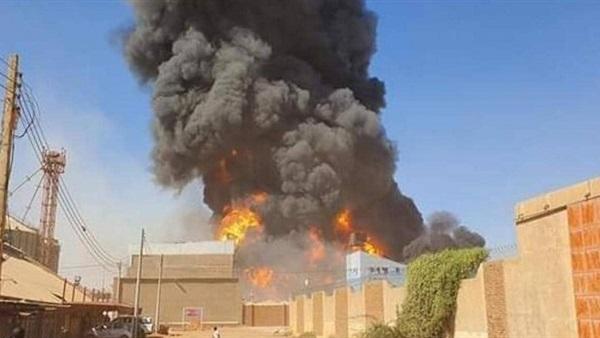 7 وفيات و 84 مصابًا بحريق مصنع في #السودان