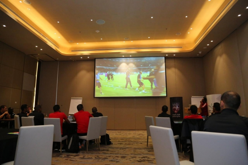 دورة تقنية الفيديو في الاتحاد العربي 8