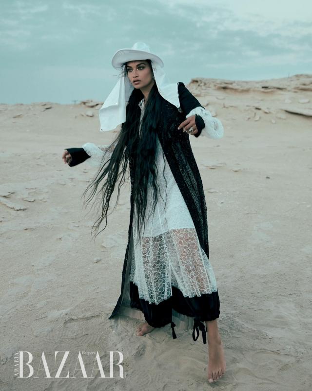 عارضة أزياء سعودية تتصدر غلاف هاربر بازار - المواطن