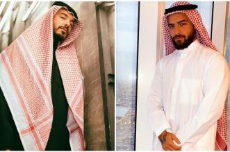 مغنيان كولومبيان يرتديان الزي السعودي - المواطن