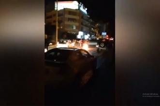 فيديو.. مناوشات بين الشرطة والمتظاهرين وسط بيروت - المواطن