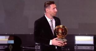 #ميسي يتوج بجائزة الكرة الذهبية 2019