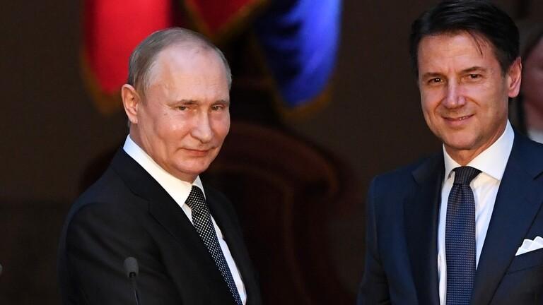 بوتين لرئيس وزراء إيطاليا: أزمة ليبيا يجب أن تحل سلميًا