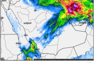 حالة مطرية شتوية مؤثرة على #الشرقية و#الرياض - المواطن