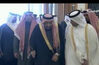 الملك سلمان يستقبل رئيس وزراء قطر - المواطن