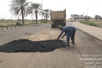 """تجاوبا مع """"المواطن"""": بلدية المسارحة تصلح طريق الحصمة - المواطن"""