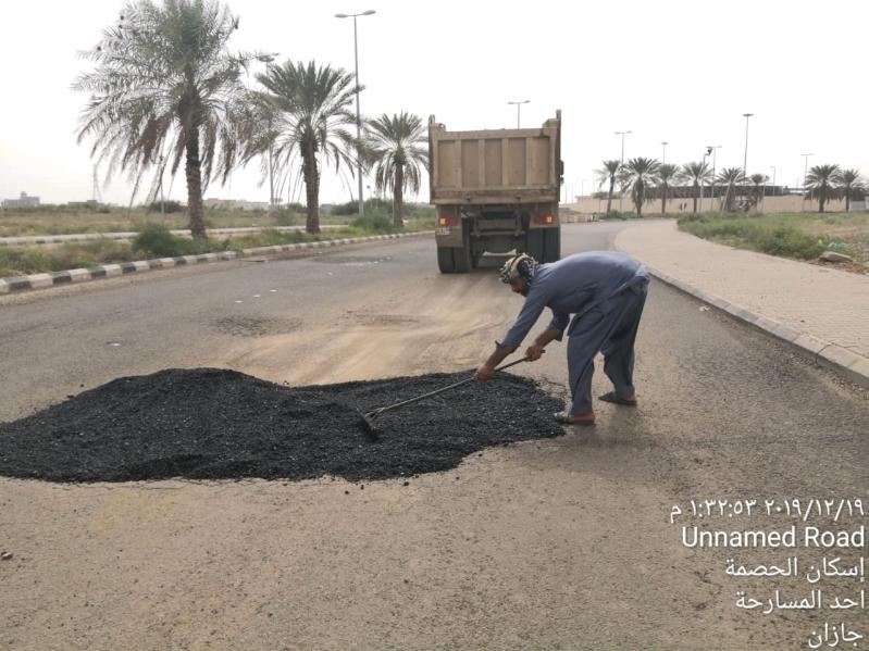 """تجاوبا مع """"المواطن"""": بلدية المسارحة تصلح طريق الحصمة"""