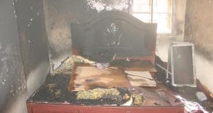 صور.. إصابات في حريق شقة بـ#المدينة_المنورة