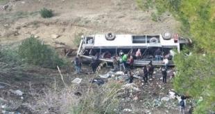 فيديو وصور.. ارتفاع قتلى حادثة الحافلة بتونس إلى 26
