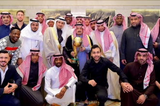 أمير الرياض يستقبل رئيس وأعضاء نادي النصر 3 1