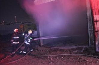 حريق مستودع في مكة المكرمة