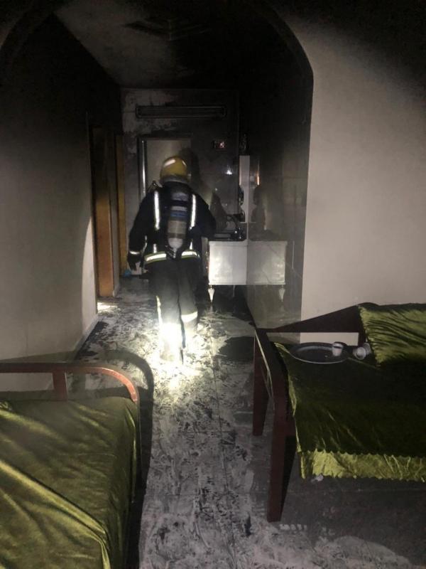 منزل محترق في السعودية