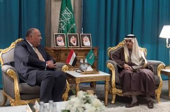 وزير الخارجية يبحث مع نظيره المصري تعزيز العلاقات الثنائية - المواطن