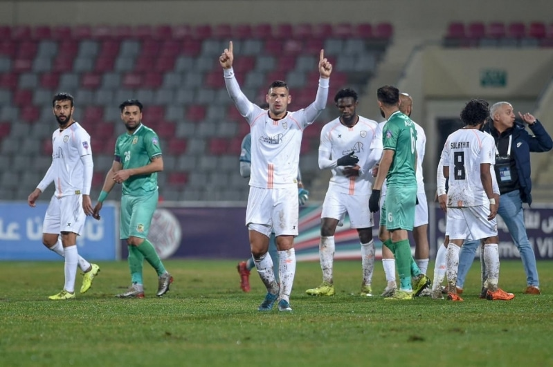 جوانكا في مباراة الشباب ضد الشرطة العراقي