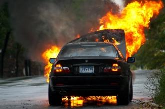 فيديو.. سيدة سعيدة الحظ.. خرجت من سيارتها قبل 29 ثانية من انفجارها - المواطن