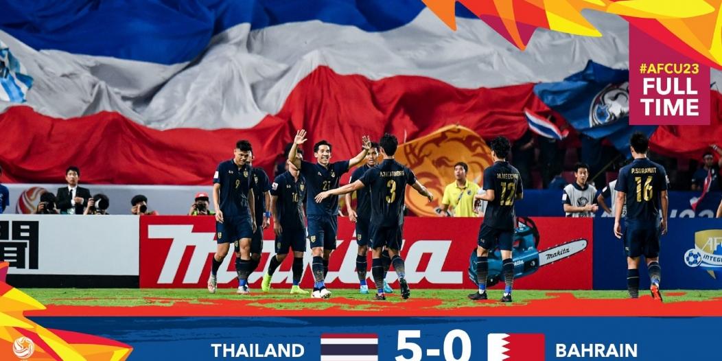 تايلاند تكتسح البحرين بخماسية في كأس آسيا