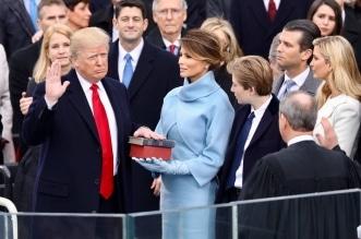 ترامب خلال أداء القسم الرئاسي