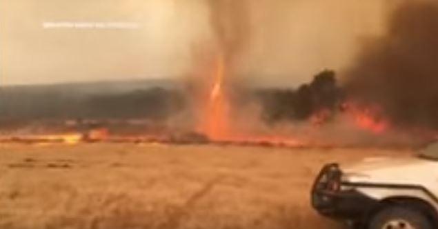 فيديو.. إعصار من النيران في حرائق غابات أستراليا