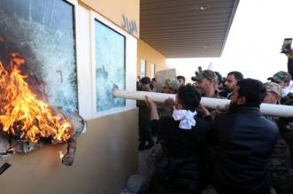 انسحاب المحتجين من محيط السفارة الأمريكية ببغداد والإصابات 62 - المواطن