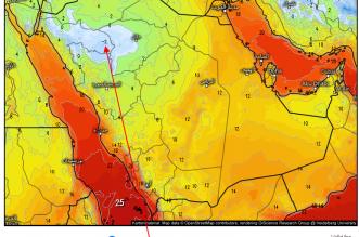 عبدالله المسند ينشر خرائط للطقس