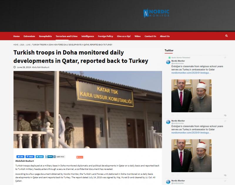 القوات التركية ترسل تقاريرًا يومية عن الدوحة