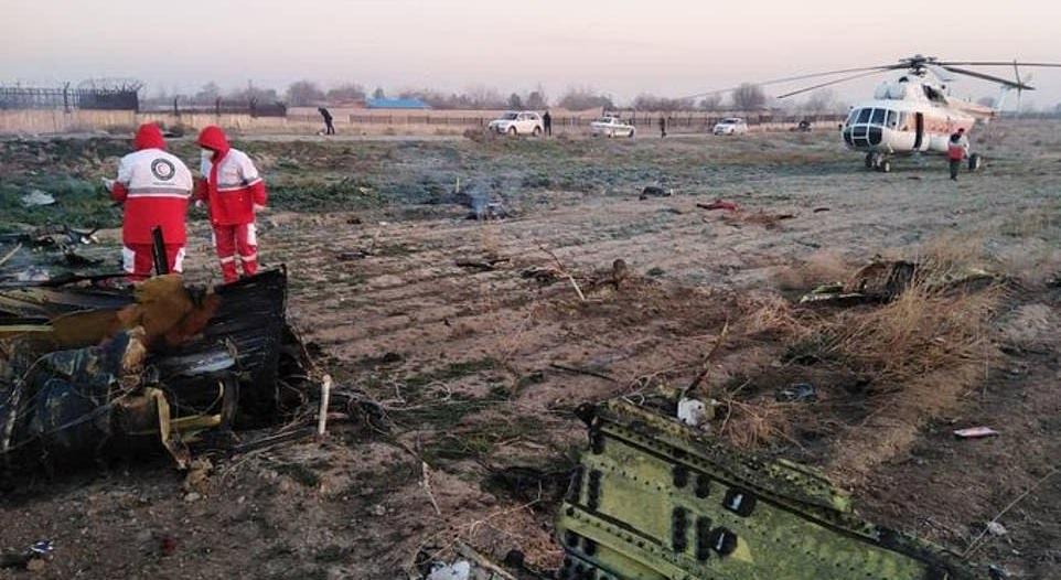 تقل 176 شخصاً.. مقتل جميع ركاب الطائرة الأوكرانية في إيران