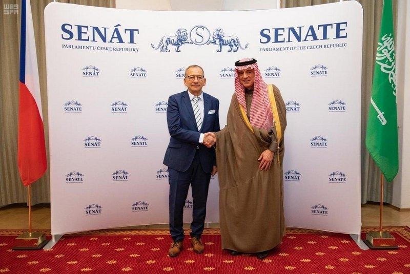 الجبير يستعرض العلاقات الثنائية مع رئيسي النواب والشيوخ بالتشيك - المواطن