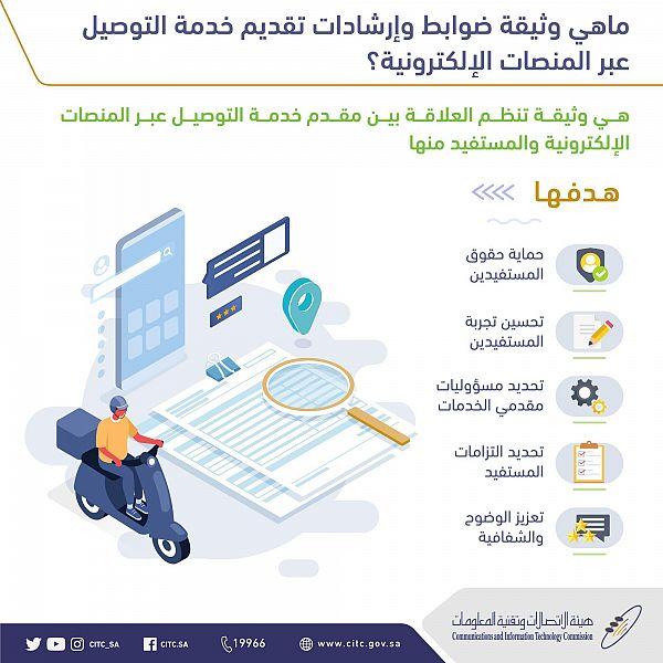 تعرف على ضوابط تقديم خدمة التوصيل عبر المنصات الإلكترونية