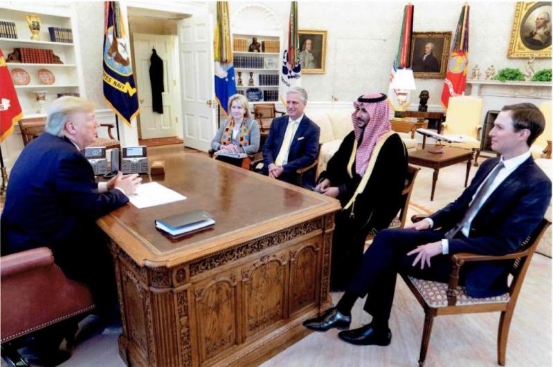 خالد بن سلمان يسلم ترامب رسالة ولي العهد
