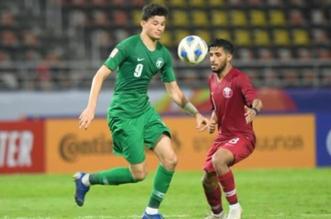 الحمدان في مباراة السعودية وقطر