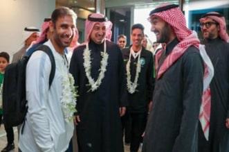 الأخضر يصل إلى الرياض