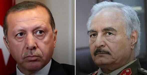أردوغان يهدد الجيش الوطني الليبي