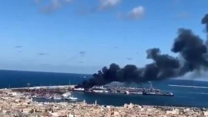 فيديو.. الجيش الليبي يستهدف سفينة تركية محملة بالأسلحة - المواطن