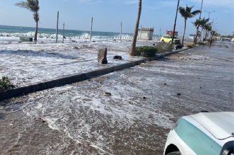 ارتفاع الأمواج يغلق كورنيش جدة - المواطن
