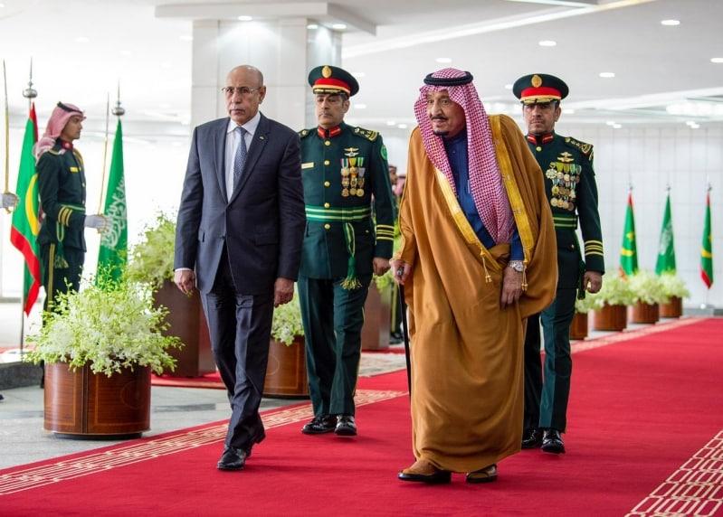 الملك سلمان يستقبل رئيس موريتانيا ويقيم مأدبة غداء تكريمًا له