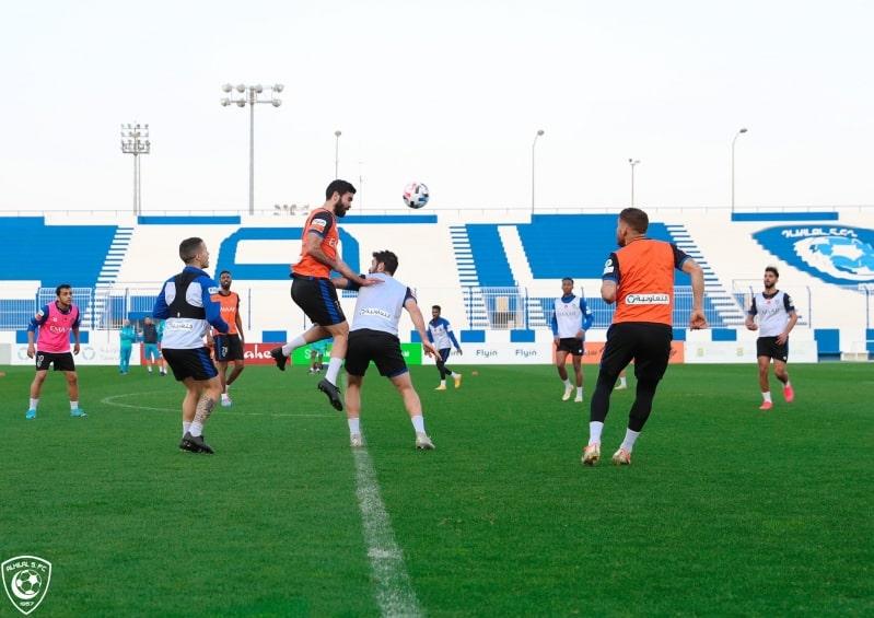لاعبو الهلال في مران اليوم